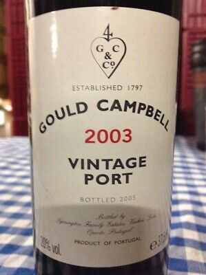 Gould Campbell Vintage Port 2003 HALF BOTTLE