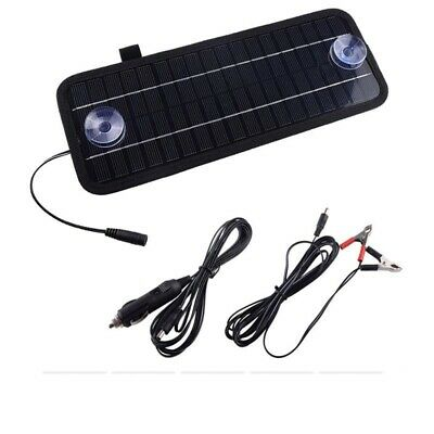 Multifunctional Solar Panel Trickle Battery Charger Vehicle Boat Outdoor Kit 12V