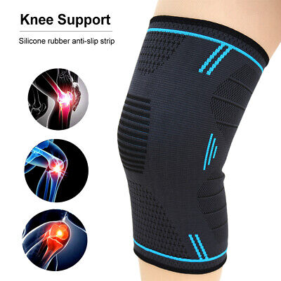 2× Knee Sleeve Compression Brace Support For Sport Joint Pain Arthritis Relief