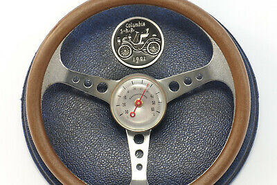 Lenkrad Columbia 1901 Rennwagen altes Auto Thermometer Racing Car Steering Wheel