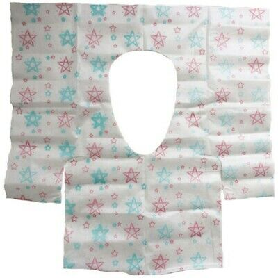 20 Pcs Disposable Potty Seat Cover - Large Size Travel Toilet Seat Cover Wi Q6V2