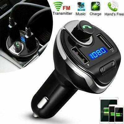 Wireless In-Car Bluetooth FM Transmitter MP3 Radio Adapter Car Fast-USB Charger