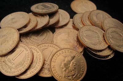 British Caribbean Territories 1 Cent 1965 CH BU Lot of 25 Coins
