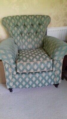 Wing Chair Fireside High Back Armchair Pattern Fabric