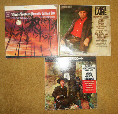 Lot Marty Robbins More Gunfighter Ballads Trail Songs Frankie Laine Rawhide Tiki