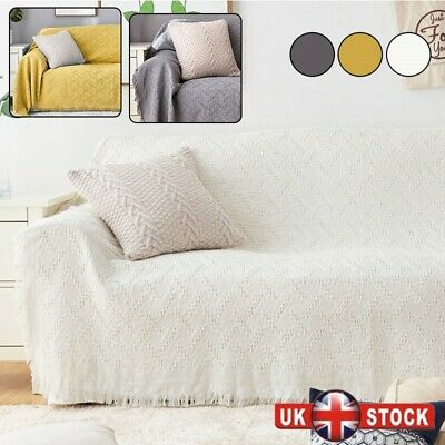 LARGE SIZE Cotton Woven Sofa Bed Throw Blanket Bedspread Settee Cover