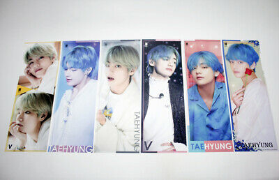 K-POP Best Goods BTS V High Quality Photos Mini Size Posters(12) + Sticker Set