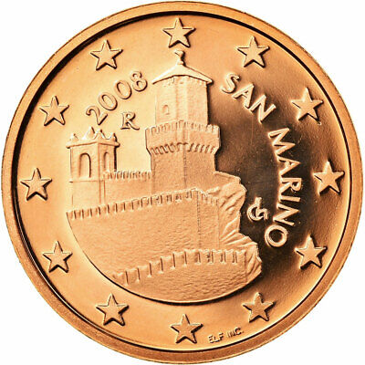 [#730389] San Marino, 5 Euro Cent, 2008, Proof, MS(65-70), Copper Plated Steel
