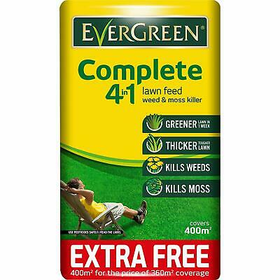 Evergreen Weed & Moss Killer Complete 4 In 1 Lawn Food 400sqm 10%free Fertiliser