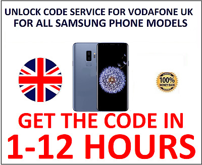 Unlock Code Service for Samsung Galaxy A20 A20e A30 A40 A50 A60 A70 Vodafone UK