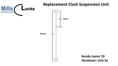Kundo Junior 53 (Unit 5a) Horolovar Anniversary Clock 400 Day Suspension Unit