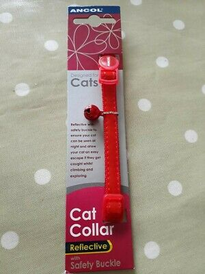 Ancol Gloss Reflective Safety Release Buckle Cat Collar Red