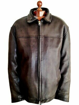 Vtg Leather SCHOTT HIGHWAYMAN Perfecto Motorcycle Biker Flight USA Jacket Coat