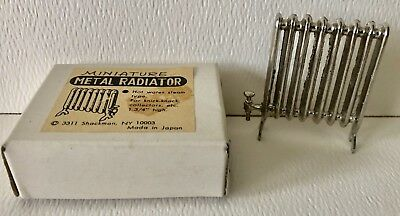 Vintage Shackman Miniature Metal Hot Water Heat Radiator Doll House Dollhouse
