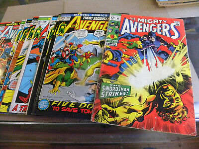 Marvel 1969 8 issues THE AVENGERS 65 101 103 105 106 107 109 110 112