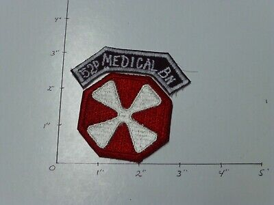 52 Medical Bn hand made in Korea color tab with seperate 8th Army patch