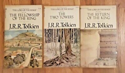 Complete Lord of the Rings LOTR  JRR Tolkien vintage paperback Ballantine 1973