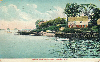 Pawtuxet Cove, Looking South, Pawtuxet, R.i. Rhode Island. Houses. Boats.
