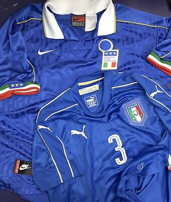 finest selection e6d47 c6325 AUTHENTIC ITALY PUMA Blue Soccer Jersey National Team Men's ...