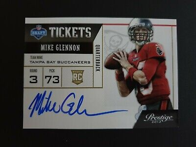 Panini Prestige 2013 NFL Mike Glennon Buccaneers Rookie Autograph Card