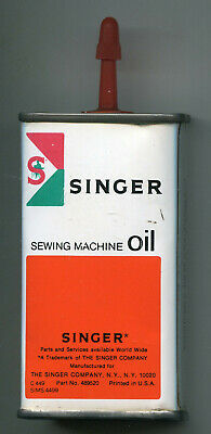 Full Singer Sewing Machine Oil Tin Can