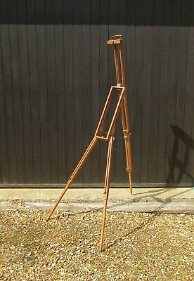 Vintage wooden artists folding field easel painting stand
