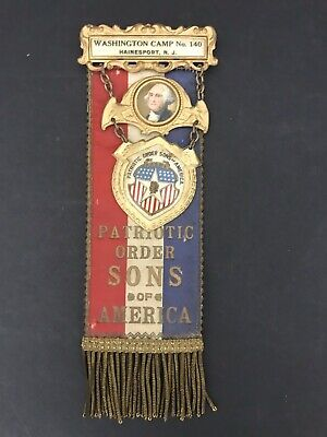 Patriotic Order Sons of America P.O.S. of A Medal Camp NO.140 Hainesport, NJ