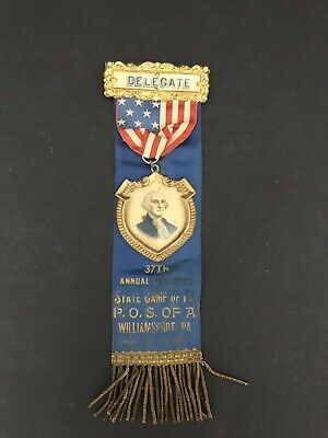 Patriotic Order Sons of America P.O.S. of A Medal Camp Delegate Williamsport, PA