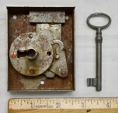 Heavy Duty European Vintage Lock and Key for Restoring Antique Furniture
