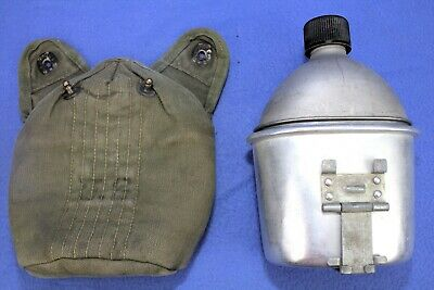 WW2 US Army Canteen Set Cover Cup and Canteen All Dated 1945