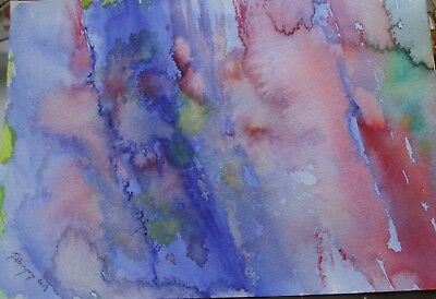 Watercolour Painting of Standing Stones,Abstract,Pagan,Wiccan,original,unframed