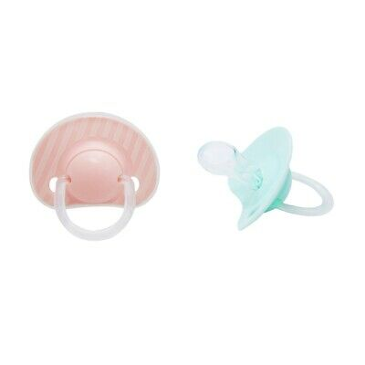 2Pcs Toddler Kids Teether Training Chewable Silicone Toddler Toy Pink&Green
