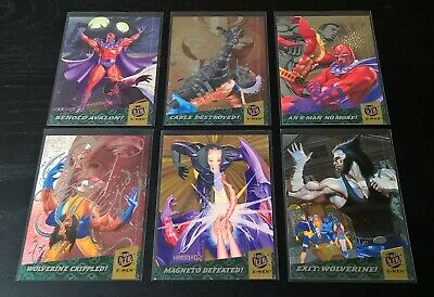 1994 Fleer-Ultra X-Men - Complete 6 Card Fatal Attractions Insert Set - Marvel