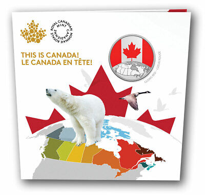 2019 Canada $5 This is Canada! Pure silver glow in the dark Canadian flag