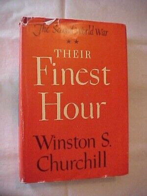 THEIR FINEST HOUR by CHURCHILL; THE SECOND WORLD WAR SERIES VOL 2; HISTORY