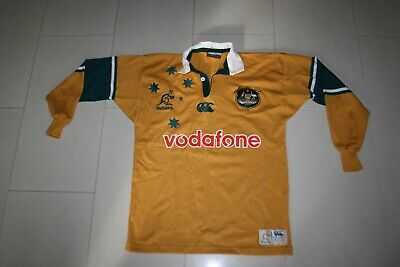 Wallabies Vintage Rugby Union Jersey Mens Small Nz Made Canterbury Australia