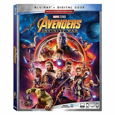 Avengers Infinity War Blu-Ray/Digital Code Brand New In Wrapper With Slipcover
