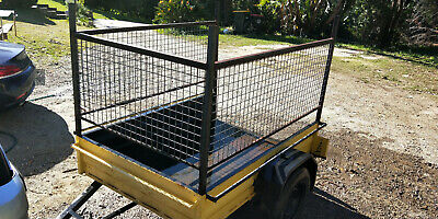 6 x 4  steel Box Trailer with cage in good condition with NEW LED lights SYDNEY