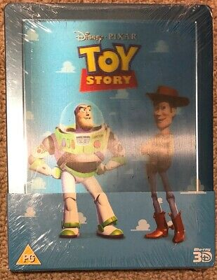 Toy Story SteelBook with Lenticular Magnet 3D + 2D Blu-Ray - Region Free - NEW