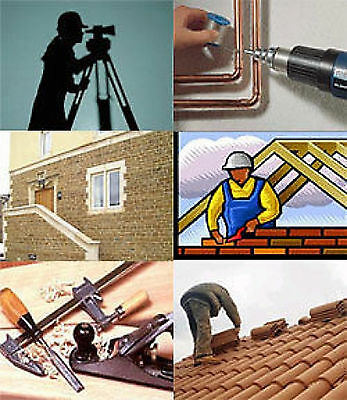Multipack Building Construction Carpentry Plumbing Roofing Training Course on CD