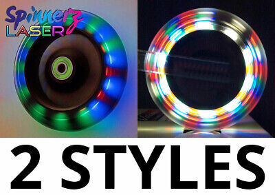 2 x Wheelchair Castors Wheels FLASHING LED Light-Up |100 or 120mm | 4 or 5 inch