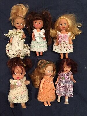Hand Knitted Dolls Clothes For 4 Inch Doll.