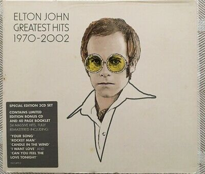 ELTON JOHN Greatest Hits 1970-2002: 3CD Album Best Of Special Edition Bonus Disc