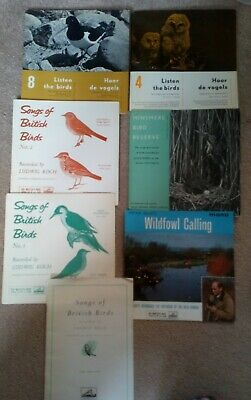 Birdsong records 33 1/3rpm and 45 rpm ornithology birdwatching collectors items