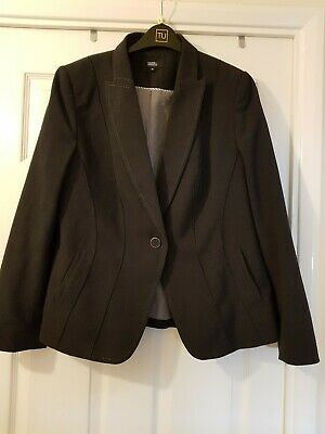 M&S Marks And Spencer Grey Jacket Size 16 Charcoal VGC
