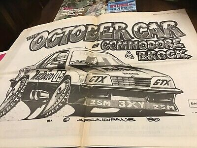 Old Auto Action 1980 includes Peter Brock Commodore poster