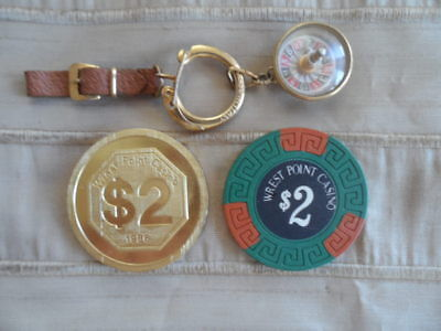 Wrest Point Casino Chips and Roulette Wheel Keyring Made in Italy
