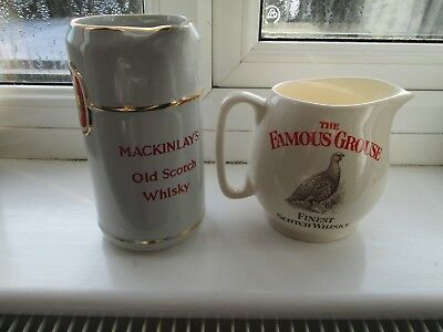 The Famous Grouse Whisky Water Jug,And A Mackinlays, Wade  Mark,  Ex Condition,