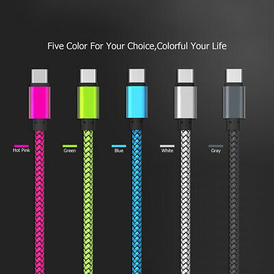 Braided Protective Skin Type C USB Cable 3.1 Fast Data Sync Super Charging Cable