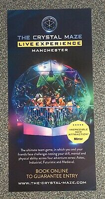 The Crystal Maze Live Experience, Manchester, promotional Flyer 2019